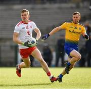 10 February 2019; Ben McDonnell of Tyrone in action against Conor Devaney of Roscommon during the Allianz Football League Division 1 Round 3 match between Roscommon and Tyrone at Dr. Hyde Park in Roscommon. Photo by Seb Daly/Sportsfile