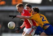10 February 2019; Michael Hurley of Cork in action against Kevin Hartnett of Clare during the Allianz Football League Division 2 Round 3 match between Clare and Cork at Cusack Park in Ennis, Clare. Photo by Sam Barnes/Sportsfile