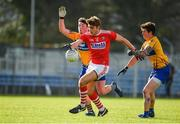 10 February 2019; Ian Maguire of Cork in action against Keelan Sexton, left, and Aaron Fitzgerald of Clare during the Allianz Football League Division 2 Round 3 match between Clare and Cork at Cusack Park in Ennis, Clare. Photo by Sam Barnes/Sportsfile