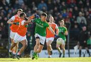 10 February 2019; Shane McEntee of Meath is tackled by Jemar Hall of Armagh during the Allianz Football League Division 2 Round 3 match between Meath and Armagh at Páirc Tailteann in Navan, Meath. Photo by Eóin Noonan/Sportsfile