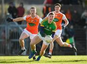 10 February 2019; Thomas O'Reilly of Meath is fouled by Ryan Kennedy of Armagh resuling in a penalty during the Allianz Football League Division 2 Round 3 match between Meath and Armagh at Páirc Tailteann in Navan, Meath. Photo by Eóin Noonan/Sportsfile