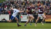 10 February 2019; Kieran Duggan of Galway in action against Colion Walshe of Monaghan during the Allianz Football League Division 1 Round 3 match between Monaghan and Galway at Inniskeen in Monaghan. Photo by Daire Brennan/Sportsfile