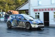 10 February 2019; Craig Breen and Paul Nagle in their Ford Fiesta R5 during Stage 3 Colemanstown of the Galway International Rally during Round 1 of the Irish Tarmac Rally Championship in Athenry, Co. Galway. Photo by Philip Fitzpatrick/Sportsfile