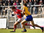 10 February 2019; Ian Maguire of Cork in action against Gary Brennan of Clare during the Allianz Football League Division 2 Round 3 match between Clare and Cork at Cusack Park in Ennis, Clare. Photo by Sam Barnes/Sportsfile