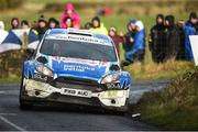 10 February 2019; Craig Breen and Paul Nagle in their Ford Fiesta R5 during Stage 6 Colemanstown of the Galway International Rally during Round 1 of the Irish Tarmac Rally Championship in Athenry, Co. Galway. Photo by Philip Fitzpatrick/Sportsfile