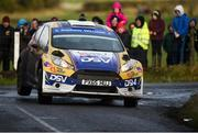 10 February 2019; Josh Moffett and Keith Moriarty in their Ford Fiesta R5 during Stage 6 Colemanstown of the Galway International Rally during Round 1 of the Irish Tarmac Rally Championship in Athenry, Co. Galway. Photo by Philip Fitzpatrick/Sportsfile