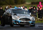 10 February 2019; Declan Boyle and Brian Boyle in their Ford Fiesta R5 during Stage 6 Colemanstown of the Galway International Rally during Round 1 of the Irish Tarmac Rally Championship in Athenry, Co. Galway. Photo by Philip Fitzpatrick/Sportsfile