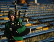 10 February 2019; Christopher Murray from Raphoe, Co. Donegal plays the bag pipes prior to the Allianz Football League Division 2 Round 3 match between Tipperary and Donegal at Semple Stadium in Thurles, Tipperary. Photo by Harry Murphy/Sportsfile