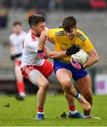 10 February 2019; Ultan Harney of Roscommon in action against Matthew Donnelly of Tyrone during the Allianz Football League Division 1 Round 3 match between Roscommon and Tyrone at Dr. Hyde Park in Roscommon. Photo by Seb Daly/Sportsfile