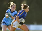 10 February 2019; Niamh Lonergan of Tipperary in action against Jennifer Dunne of Dublin during the Lidl Ladies NFL Round 2 match between Tipperary and Dublin at Ardfinnan in Tipperary. Photo by Matt Browne/Sportsfile