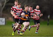 10 February 2019; Lorcan Jones of Skerries in action against Daniel Pim of Enniscorthy during the Bank of Ireland Provincial Towns Cup Round 2 match between Skerries RFC and Enniscorthy RFC at Skerries RFC in Skerries, Dublin. Photo by Brendan Moran/Sportsfile