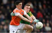 10 February 2019; Rory Grugan of Armagh in action against Ronan Ryan of Meath during the Allianz Football League Division 2 Round 3 match between Meath and Armagh at Páirc Tailteann in Navan, Meath. Photo by Eóin Noonan/Sportsfile