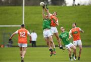 10 February 2019; Bryan Menton of Meath in action against Stephen Sheridan of Armagh during the Allianz Football League Division 2 Round 3 match between Meath and Armagh at Páirc Tailteann in Navan, Meath. Photo by Eóin Noonan/Sportsfile