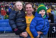 10 February 2019; Dunnamaggin full-back Noel Hickey celebrates with his children Aimee and Eoin after the AIB GAA Hurling All-Ireland Junior Championship Final match between Castleblayney and Dunnamaggin at Croke Park in Dublin. Photo by Piaras Ó Mídheach/Sportsfile