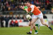 10 February 2019; Ryan Kennedy of Armagh in action against Cillian O'Sullivan of Meath during the Allianz Football League Division 2 Round 3 match between Meath and Armagh at Páirc Tailteann in Navan, Meath. Photo by Eóin Noonan/Sportsfile