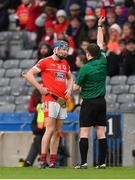 10 February 2019; Jack Doyle of Charleville is shown the red card by referee Colum Cunning during the AIB GAA Hurling All-Ireland Intermediate Championship Final match between Charleville and Oranmore-Maree at Croke Park in Dublin. Photo by Piaras Ó Mídheach/Sportsfile