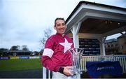 10 February 2019; Jockey Davy Russell after winning the BoyleSports Grand National Trial Handicap Steeplechase on-board Dounikos at Punchestown Racecourse in Naas, Co. Kildare. Photo by David Fitzgerald/Sportsfile