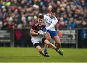 10 February 2019; Antoine Ó Laoi of Galway in action against Drew Wylie of Monaghan during the Allianz Football League Division 1 Round 3 match between Monaghan and Galway at Inniskeen in Monaghan. Photo by Daire Brennan/Sportsfile