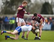 10 February 2019; Jonathan Duane of Galway in action against Owen Duffy of Monaghan during the Allianz Football League Division 1 Round 3 match between Monaghan and Galway at Inniskeen in Monaghan. Photo by Daire Brennan/Sportsfile