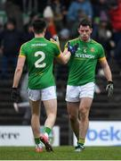 10 February 2019; Donal Keogan celebrates with Seamus Lavin of Meath after the Allianz Football League Division 2 Round 3 match between Meath and Armagh at Páirc Tailteann in Navan, Meath. Photo by Eóin Noonan/Sportsfile