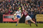 10 February 2019; Shane Carey of Monaghan in action against John Daly of Galway  during the Allianz Football League Division 1 Round 3 match between Monaghan and Galway at Inniskeen in Monaghan. Photo by Daire Brennan/Sportsfile