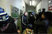 """10 February 2019; Monaghan manager Malachy O""""Rourke speaks to media after the Allianz Football League Division 1 Round 3 match between Monaghan and Galway at Inniskeen in Monaghan. Photo by Daire Brennan/Sportsfile"""