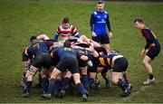 10 February 2019; The packs engage in a scrum during the Bank of Ireland Provincial Towns Cup Round 2 match between Skerries RFC and Enniscorthy RFC at Skerries RFC in Skerries, Dublin. Photo by Brendan Moran/Sportsfile