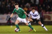 9 February 2019; James Tilley of Cork City in action against Sean Gannon of Dundalk during the 2019 President's Cup Final between Cork City and Dundalk at Turners Cross in Cork. Photo by Stephen McCarthy/Sportsfile