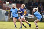 10 February 2019; Samantha Lambert of Tipperary in action against Niamh Hetherton, left, and Nicole Owens of Dublin during the Lidl Ladies NFL Round 2 match between Tipperary and Dublin at Ardfinnan in Tipperary. Photo by Matt Browne/Sportsfile