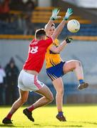 10 February 2019; Conor Finucane of Clare in action against Aidan Browne of Cork during the Allianz Football League Division 2 Round 3 match between Clare and Cork at Cusack Park in Ennis, Clare. Photo by Sam Barnes/Sportsfile