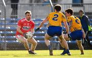 10 February 2019; Michael Hurley of Cork in action against Kevin Hartnett, left, and Aaron Fitzgerald of Clare during the Allianz Football League Division 2 Round 3 match between Clare and Cork at Cusack Park in Ennis, Clare. Photo by Sam Barnes/Sportsfile