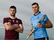11 February 2019; Padraic Mannion of Galway and John Hetherton of Dublin during an Allianz Hurling League Media Event ahead of the Galway and Dublin fixture at Loughrea Hotel & Spa in Loughrea, Galway. Photo by Harry Murphy/Sportsfile