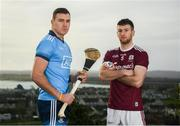 11 February 2019; John Hetherton of Dublin and Padraic Mannion of Galway during an Allianz Hurling League Media Event ahead of the Galway and Dublin fixture at Loughrea Hotel & Spa in Loughrea, Galway. Photo by Harry Murphy/Sportsfile