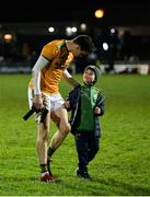 9 February 2019; Kerry goalkeeper Shane Ryan with Kerry supporter Gary Parker, aged 8, during the Allianz Football League Division 1 Round 3 match between Kerry and Dublin at Austin Stack Park in Tralee, Co. Kerry. Photo by Diarmuid Greene/Sportsfile