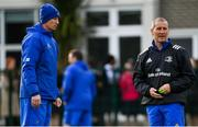 11 February 2019; Head coach Leo Cullen, left, and Senior coach Stuart Lancaster during Leinster Rugby squad training at The High School in Rathgar, Dublin. Photo by Ramsey Cardy/Sportsfile