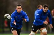 11 February 2019; Noel Reid, left, and Max Deegan during Leinster Rugby squad training at The High School in Rathgar, Dublin. Photo by Ramsey Cardy/Sportsfile