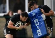 11 February 2019; Jack Aungier, left, and Vakh Abdaladze during Leinster Rugby squad training at The High School in Rathgar, Dublin. Photo by Ramsey Cardy/Sportsfile