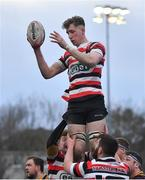 10 February 2019; Tom Ryan of Enniscorthy during the Bank of Ireland Provincial Towns Cup Round 2 match between Skerries RFC and Enniscorthy RFC at Skerries RFC in Skerries, Dublin. Photo by Brendan Moran/Sportsfile