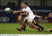 3 October 2003; Kieran Campbell, Ulster, is tackled by  Leinster's Des Dillon. Celtic Cup Quarter-Final, Ulster v Leinster, Ravenhill, Belfast. Rugby. Picture credit; Matt Browne / SPORTSFILE *EDI*