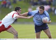 4 October 2003; Conal Keaney, Dublin, in action against Tyrone's Joe McMahon. All-Ireland U21 Football Championship Final, Dublin v Tyrone, Pairc Tailteann, Navan, Co. Meath. Picture credit; Matt Browne / SPORTSFILE *EDI*