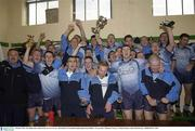4 October 2003; The Dublin team celebrate the win over Tyrone. All-Ireland U21 Football Championship Final, Dublin v Tyrone, Pairc Tailteann, Navan, Co. Meath. Picture credit; Matt Browne / SPORTSFILE *EDI*