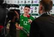 2 June 2018; Man of the Match Declan Rice of Republic of Ireland is interviewed for eir Sport following the International Friendly match between Republic of Ireland and the United States at the Aviva Stadium in Dublin. Photo by Stephen McCarthy/Sportsfile