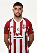 7 February 2019; Darren Cole during Derry City squad portraits at the Ryan McBride Brandywell Stadium in Derry. Photo by Oliver McVeigh/Sportsfile