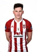 7 February 2019; Conor McDermott during Derry City squad portraits at the Ryan McBride Brandywell Stadium in Derry. Photo by Oliver McVeigh/Sportsfile
