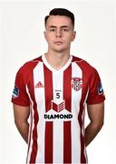7 February 2019; Josh Kerr during Derry City squad portraits at the Ryan McBride Brandywell Stadium in Derry. Photo by Oliver McVeigh/Sportsfile