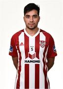 7 February 2019; Gerardo Bruna during Derry City squad portraits at the Ryan McBride Brandywell Stadium in Derry. Photo by Oliver McVeigh/Sportsfile
