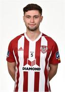 7 February 2019; Eoghan Stokes during Derry City squad portraits at the Ryan McBride Brandywell Stadium in Derry. Photo by Oliver McVeigh/Sportsfile