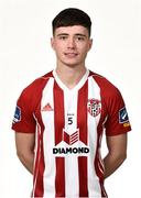7 February 2019; Rhys McDermott during Derry City squad portraits at the Ryan McBride Brandywell Stadium in Derry. Photo by Oliver McVeigh/Sportsfile