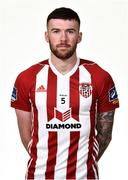 7 February 2019; Patrick McClean during Derry City squad portraits at the Ryan McBride Brandywell Stadium in Derry. Photo by Oliver McVeigh/Sportsfile