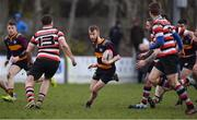 10 February 2019; Robbie Jenkinson of Skerries during the Bank of Ireland Provincial Towns Cup Round 2 match between Skerries RFC and Enniscorthy RFC at Skerries RFC in Skerries, Dublin. Photo by Brendan Moran/Sportsfile